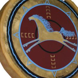 """Trommel aus dem Taos Pueblo """"Horse Coming"""""""