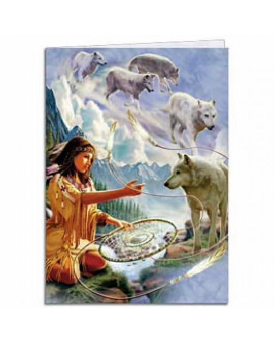 """Karte/Bild """"Dreams of Wolf Spirit"""" in 2 Grössen"""