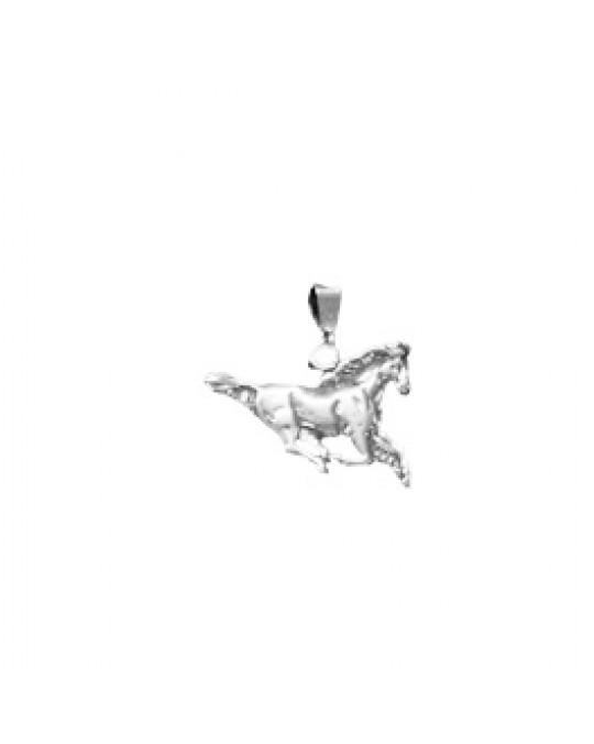 Pferd im Galopp aus Silber flacher Anhänger/Charm