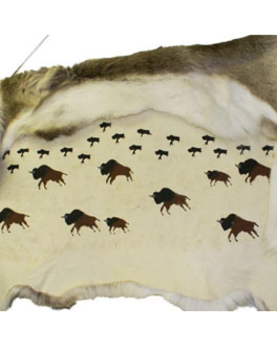Wandschmuck: bemaltes Antilopenfell