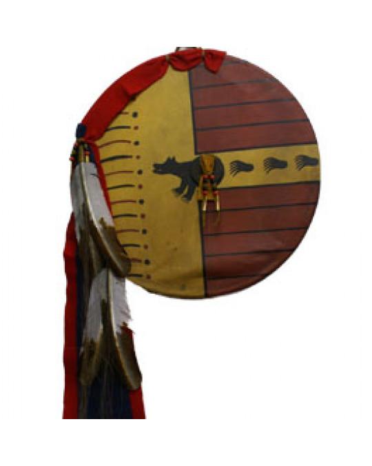 """""""Bear Society"""" Schild der Kiowa"""