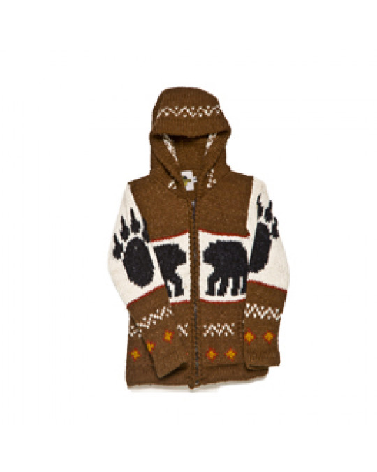 "Kid's Strick Jacke ""Bear-Paw"""