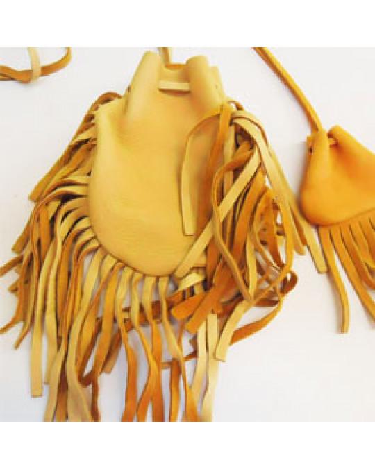 Lederbeutel aus Hirschleder, indianische Handarbeit