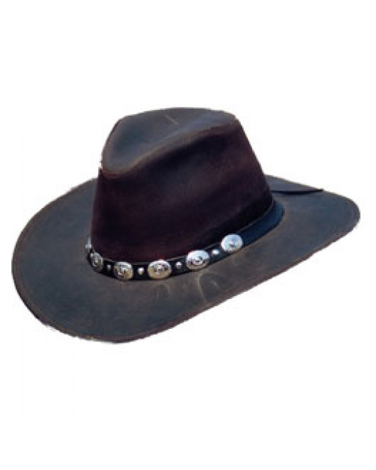 """""""Django"""" Lederhut im Outlaw-Stil"""