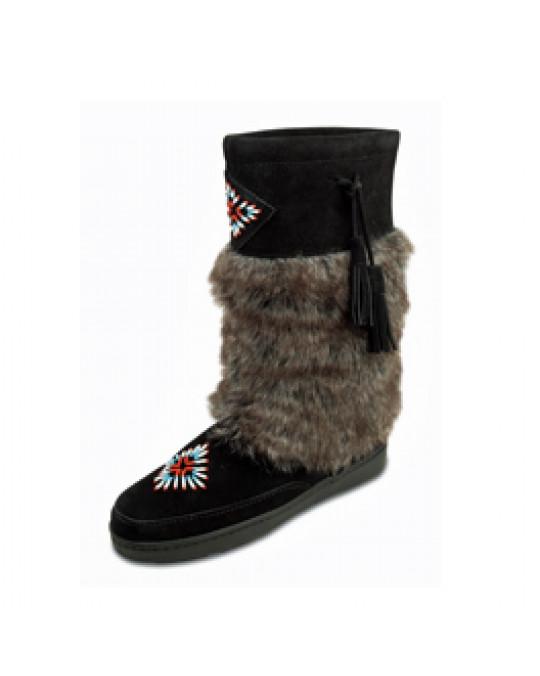 """Winter Stiefel """"Mukluk"""" warm gefüttert, schwarz"""
