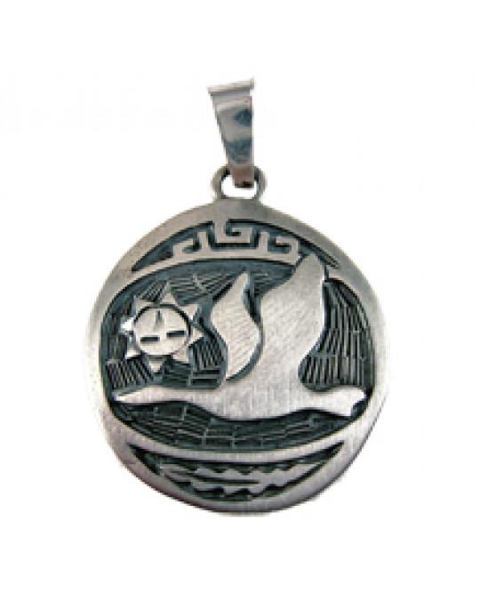 """Sternzeichen-Amulett """"Schneegans"""" gross 22.12.-19.1."""