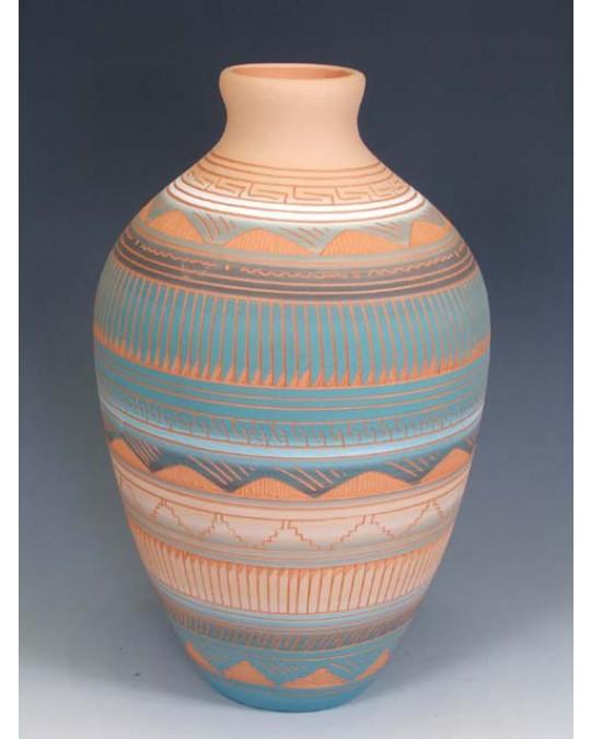"""Grössere Navajo Töpferei """"Etched Pottery"""""""