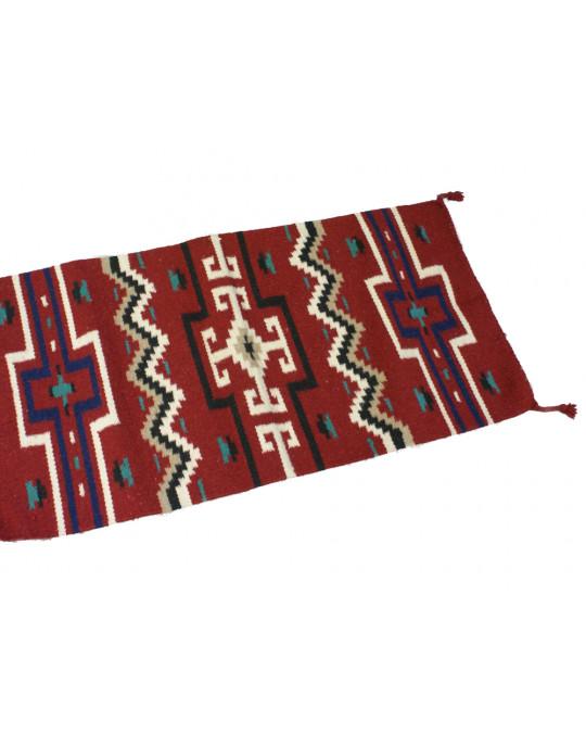 Kleiner gewobener Teppich aus Wolle