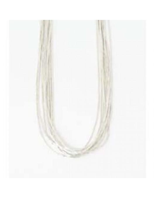 Liquid Silver Kette aus 10 Strängen