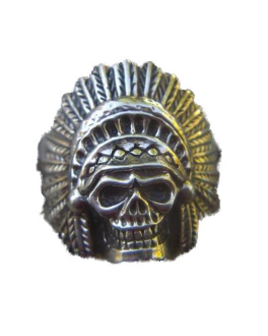 Skull-Chief Ring aus Silber