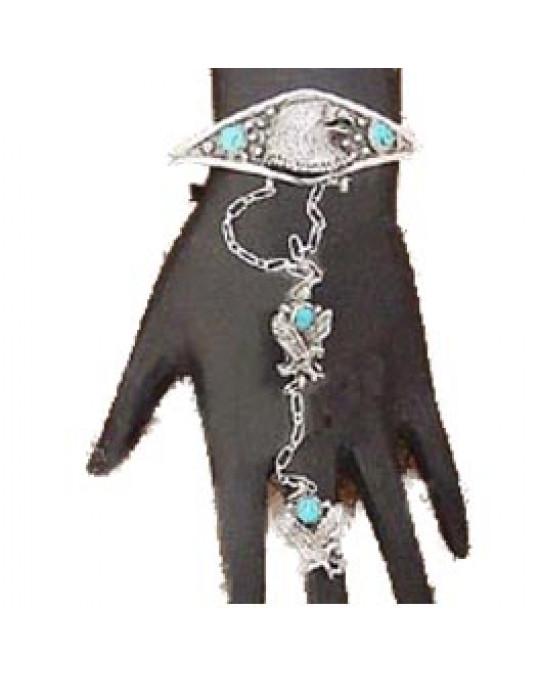 Slavebracelet Armband mit Ring der Navajo