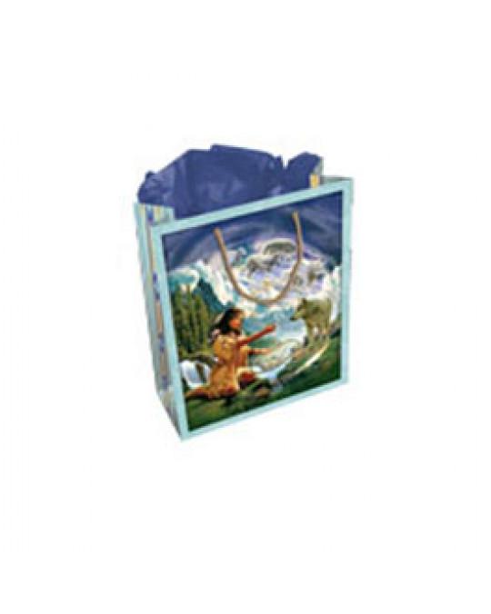 Tasche mit Geschenkspapier und -karte