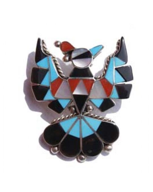"""Anhänger/Brosche der Zuni """"Thunderbird"""""""