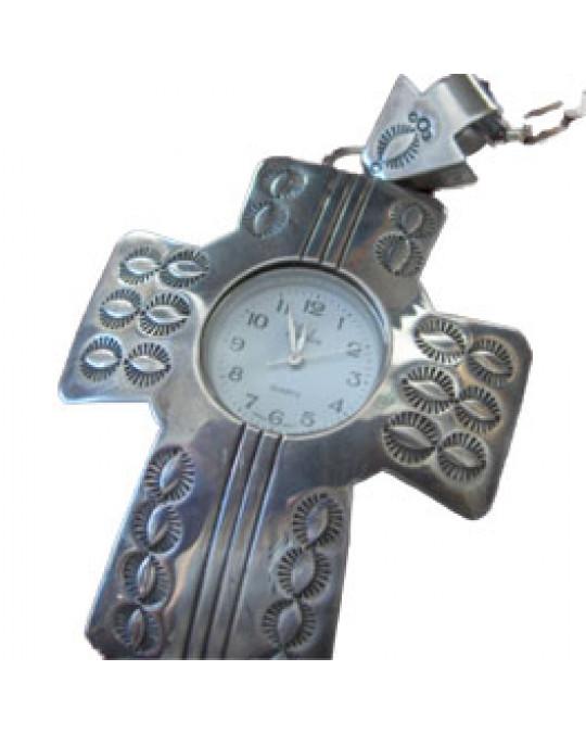 Uhr Anhänger Kreuz gross
