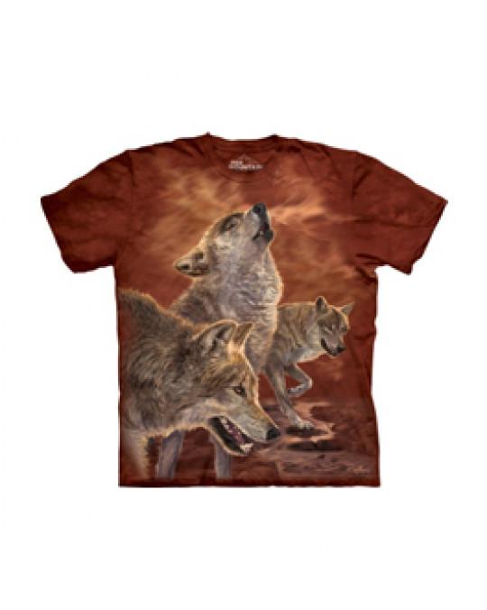 """""""Red Glow Wolves"""" T-Shirt für Kinder"""