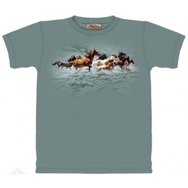 """Mustang Stampede"" T-Shirt von The Mountain"