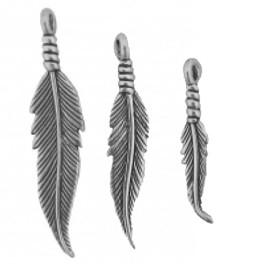 Anhänger Feder aus echtem Silber in 3 Grössen, ab