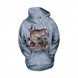 """""""Wolf Family"""" Hoodie (Kapuzen-Sweatshirt) für Kinder von The Mountain"""