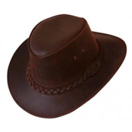 """1A Qualität Leder Hut """"Bushman"""" in zwei Farben"""