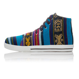 """Sneakers aus Peru, Hi Top, """"Bluebird"""""""