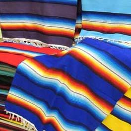 Regenbogen Decke im mexikanischen Stil, Serape