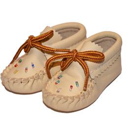 Hirschleder Baby Mokassins der Irokesen