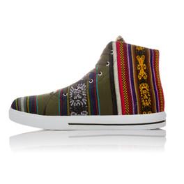 """Sneakers aus Peru, Hi Top, """"Oak"""""""