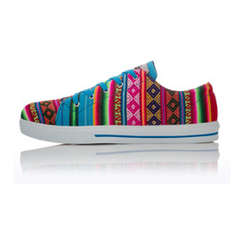 "Sneakers aus Peru, ""Blue Mist"""