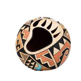 "Acoma Pueblo Töpferei ""Bearclaw"" Vase Bär"