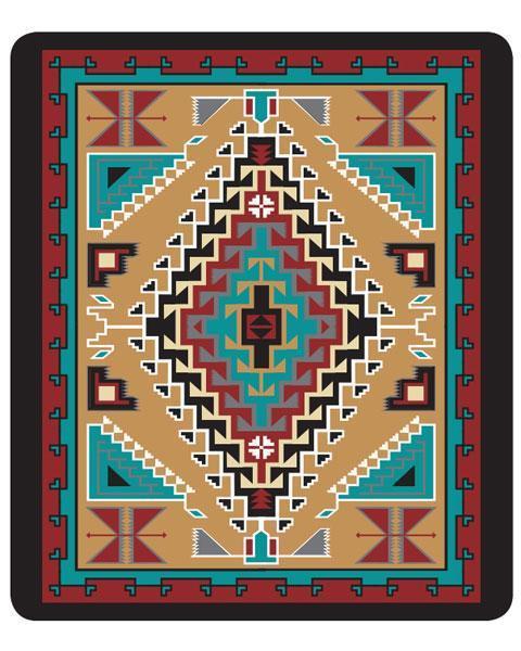 kuscheldecke mit indianischem muster
