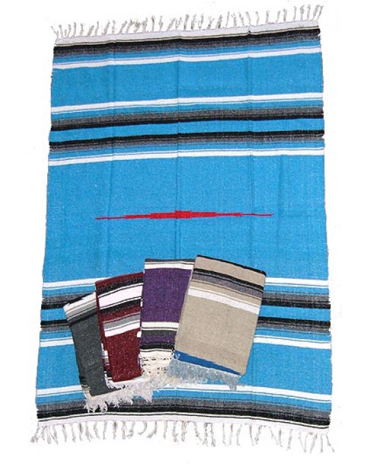 Gewobene, original mexikanische Decke in mehreren Farben