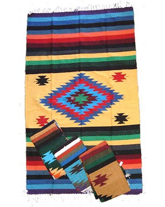 Gewobene, original mexikanische Decke in-multicolor