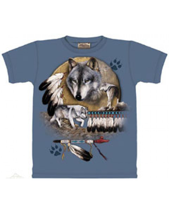 """Healing Wolf"" T-Shirt von The Mountain in XXL"