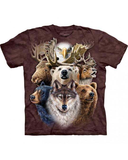 """""""Northern Wildlife Collage"""" T-Shirt von The Mountain"""
