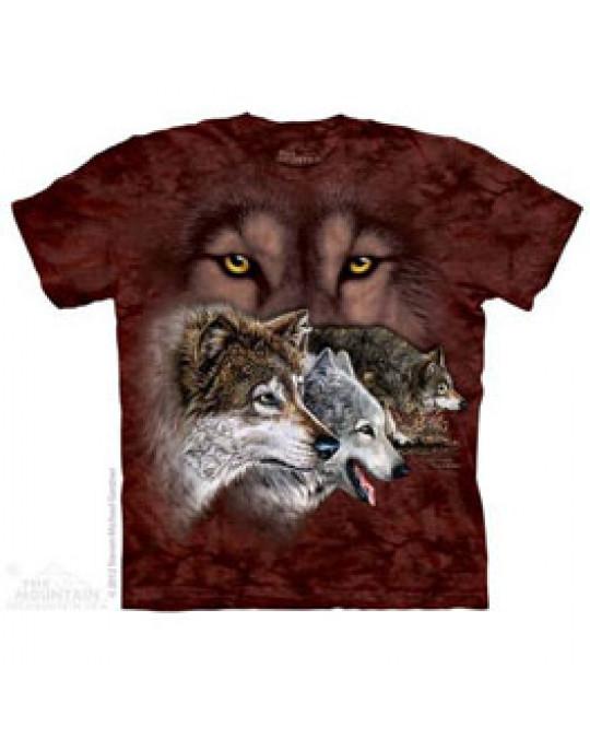 """""""Finde 9 Wölfe"""" T-Shirt für Kinder"""
