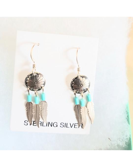 Kleine Mandala-Ohrringe in Silber