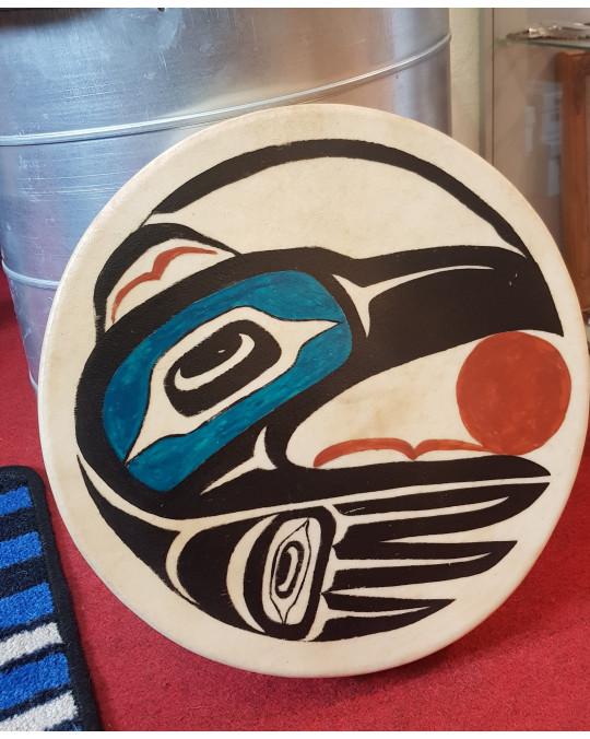 Trommel der Appalachen, bemalt im Haida Stil