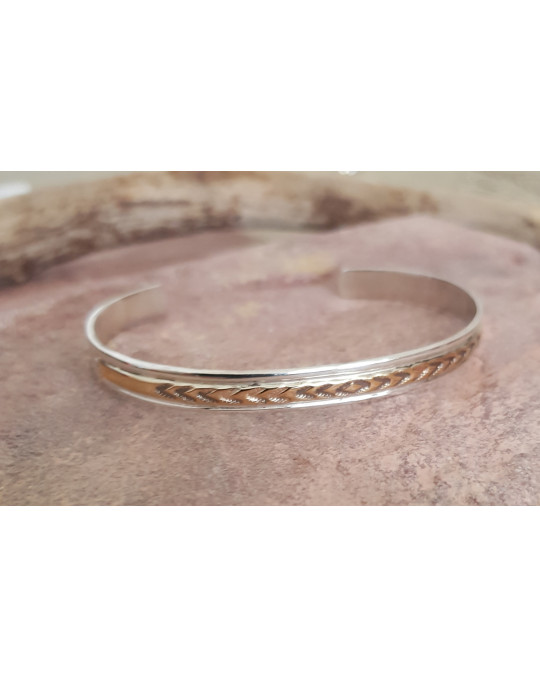 Gold/Silber Armreif der Navajo
