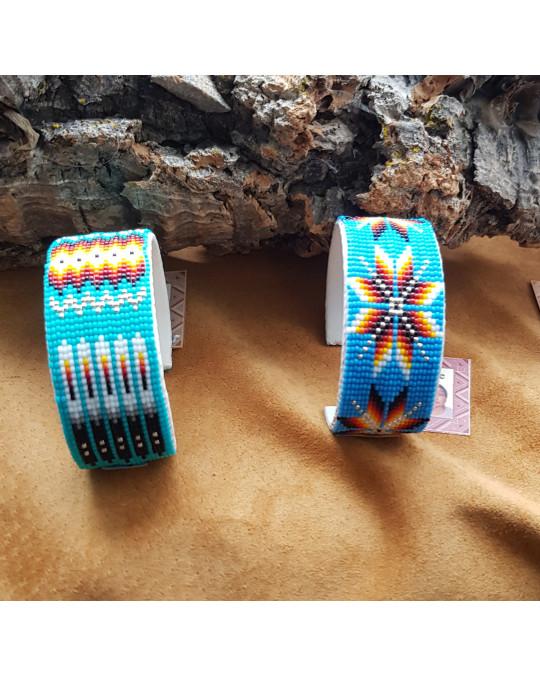 Breite Armspangen aus Glasperlen - verschiedene Farben