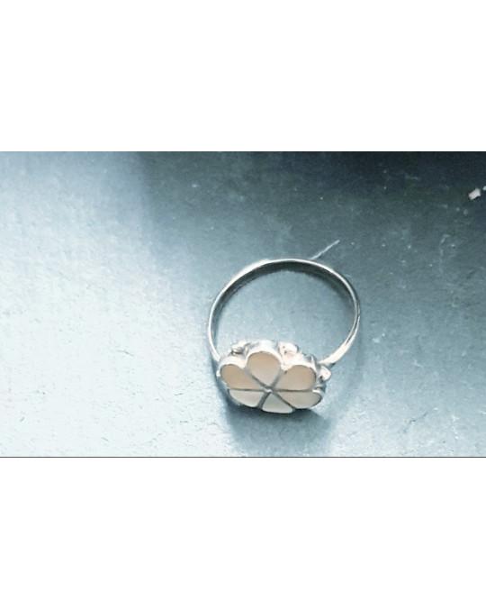 Zuni Ring Blume aus gelbem Perlmut