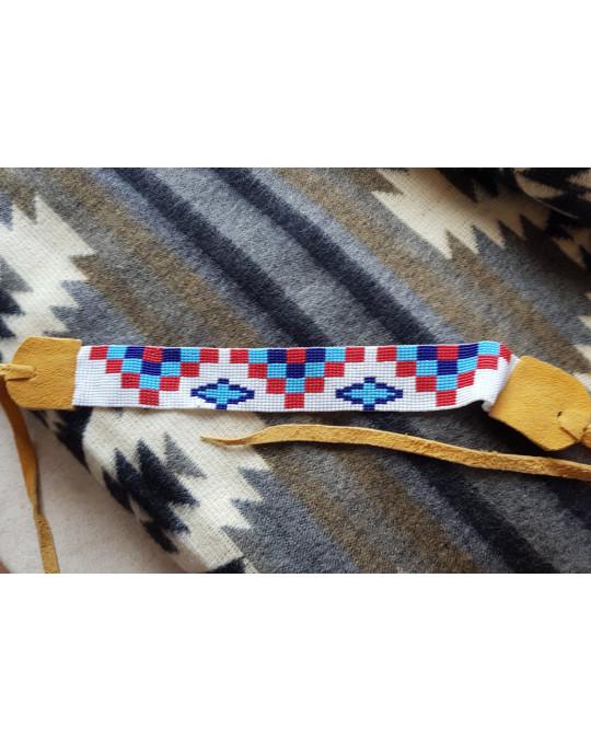 Mohikaner Hutband/Stirnband aus Glasperlen