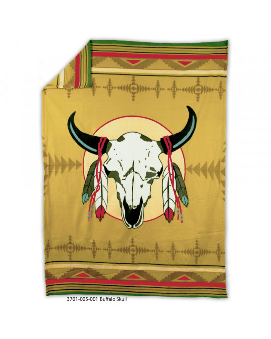 "Fleecedecke ""Buffalo Skull"""