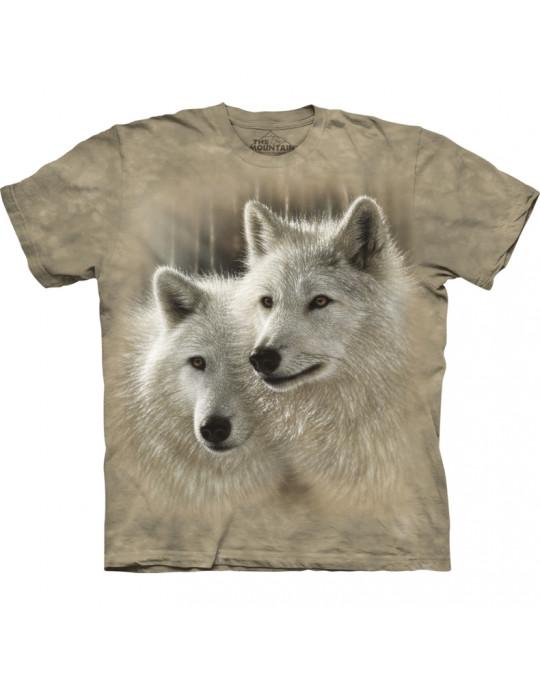 """Sunlit Soulmates"" Wolf T-Shirt für Kinder"