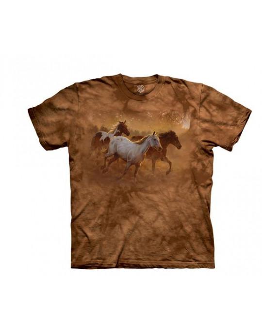 """Gold Run Horse"" - T-Shirt von The Mountain"