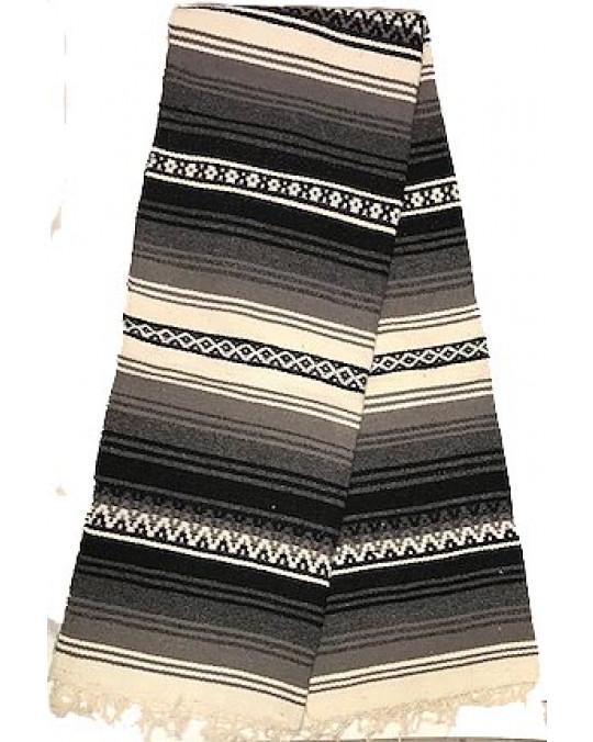 Schwere, original mexikanische Decke aus 100 % Wolle
