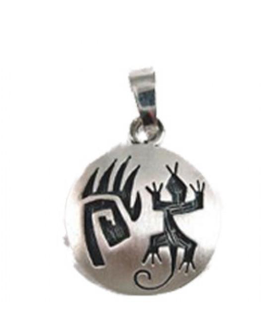 Amulett Bärentatze und Eidechse