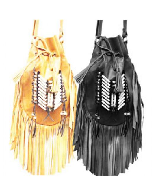 Ethno Taschen aus weichem Leder, div. Farben