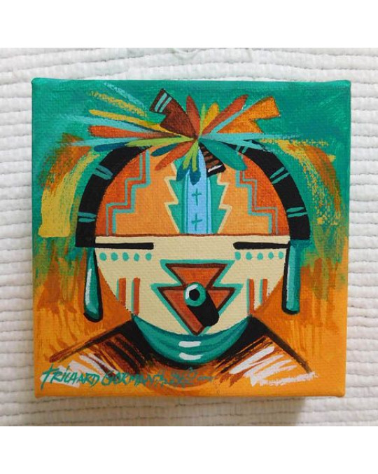 Hopi Original Bild Kachina (Miniatur)