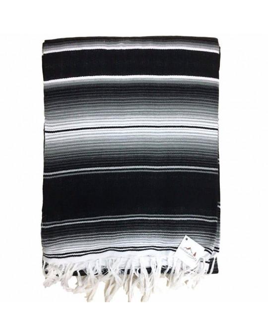 Schwarz-weisse Decke (Serape)