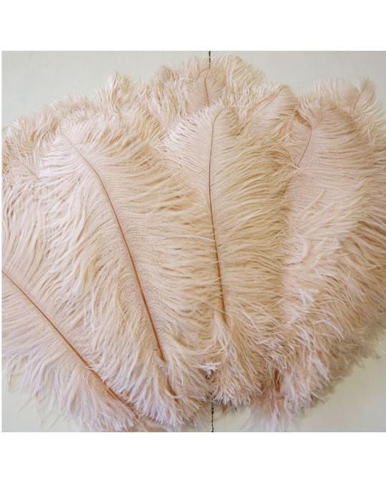 """Grosse Straussen-Federn """"Ostrich Glamour"""" in beige, anthrazit oder NEU!! weiss"""